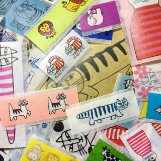 リサラーソン(Lisa Larson)のフレークシール 90枚♡リサラーソン(テープ/マスキングテープ)