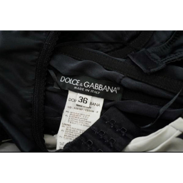 DOLCE&GABBANA(ドルチェアンドガッバーナ)のドルチェ&ガッバーナ*シルク*星/スター柄*レース*ドレープ*36 レディースのワンピース(ひざ丈ワンピース)の商品写真