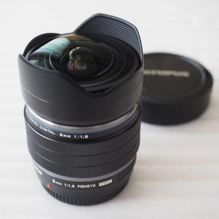オリンパス(OLYMPUS)の美品 オリンパス M.ZUIKO ED 8mm F1.8 Fisheye PRO(レンズ(単焦点))