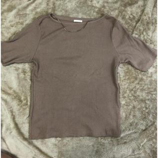 ジーユー(GU)のボートネックTシャツ(Tシャツ(半袖/袖なし))