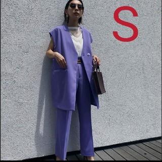Ameri VINTAGE - 新品タグ付 BOX VEST SET UP パープル S アメリ
