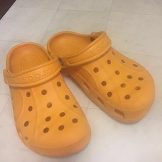 クロックス(crocs)のクロックス💖オレンジ💖(下駄/草履)