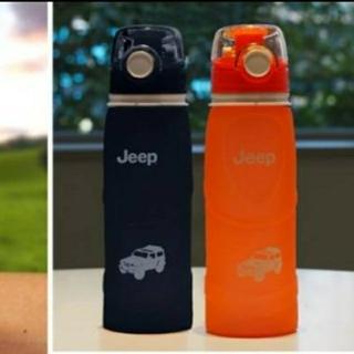 ジープ(Jeep)のJEEP オリジナル シリコン ボトル 2個 セット オレンジ ブラック(ノベルティグッズ)