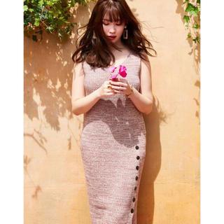 snidel - Her lip to Double V-neck Knit Dress