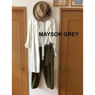 メイソングレイ(MAYSON GREY)のMAYSON GREY 麻混白コート(ロングコート)
