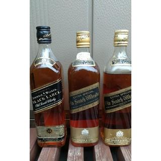 【古酒‼️】ジョニーウォーカー黒札×3