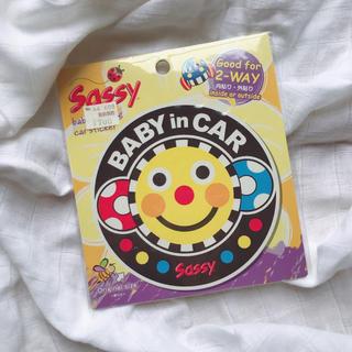 【SASSY】ベビーインカー ステッカー