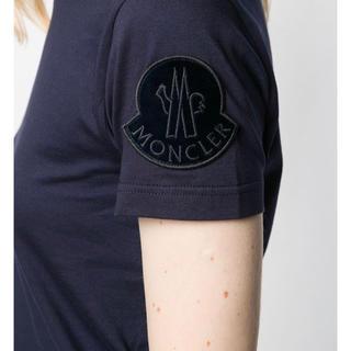 MONCLER - [新品] Moncler モンクレール Sサイズ ロゴパッチTシャツ ネイビー