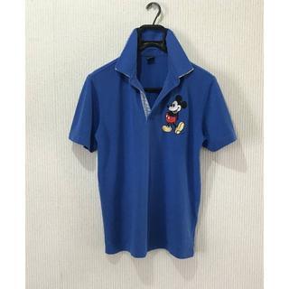 ディズニー(Disney)の*ディズニー Disney ミッキー刺繍 W襟 半袖 ポロシャツ M(ポロシャツ)