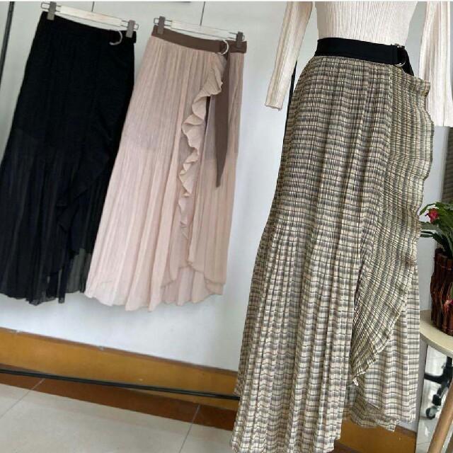 snidel(スナイデル)のSNIDELスナイデルプリーツラップスカショーパン レディースのスカート(ロングスカート)の商品写真