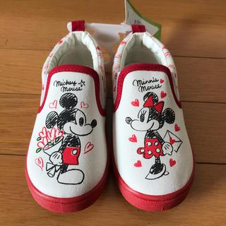 ディズニー(Disney)の新品・未使用ミッキーミニー靴スリッポン16cm(スリッポン)