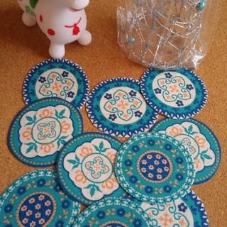 ❁ꫛꫀꪝ✧‧˚❣️可愛い❁ ポーリュッシュ柄【大10枚】handmade布シール(しおり/ステッカー)