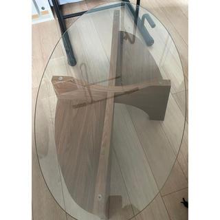 フランフラン(Francfranc)のガラステーブル センターテーブル フランフラン 引取のみ(ローテーブル)
