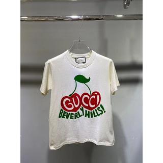 """グッチ(Gucci)のGUCCI""""BEVERLY HILLS"""" チェリープリント・コットンTシャツ (Tシャツ(半袖/袖なし))"""