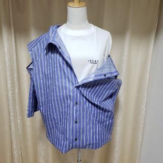 ルシェルブルー(LE CIEL BLEU)のIRENE アイレネ ルシェルブルー ストライプ レイヤード シャツ(シャツ/ブラウス(半袖/袖なし))