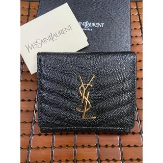 イヴサンローランボーテ(Yves Saint Laurent Beaute)の売り上げ!サンローランYSL 折り 財布 ブラック お勧め(財布)