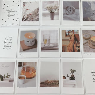 メッセージカード 25枚(おしゃれ小物)(カード/レター/ラッピング)