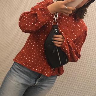 moussy - MOUSSY ドット柄シャツ シャツ レディース