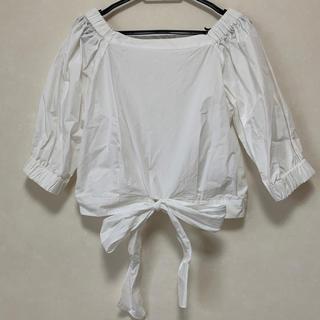 アンドクチュール(And Couture)のブラウス 白(シャツ/ブラウス(半袖/袖なし))