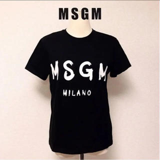 アウラアイラ(AULA AILA)のMSGM エムエス Tシャツ ロゴ 人気 黒 S インポート (Tシャツ(半袖/袖なし))