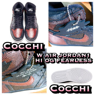 ナイキ(NIKE)のNIKE WMNS AIR JORDAN 1 HIGH OG FEARLESS(スニーカー)