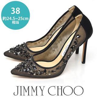 ジミーチュウ(JIMMY CHOO)の美品❤️ジミーチュウ ビーズ ビジュー パンプス 38(約24.5-25(ハイヒール/パンプス)