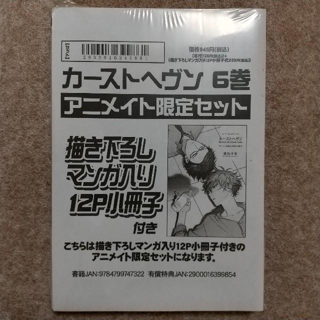BL  緒川千世  カーストヘヴン 6巻  アニメイト限定セット エンタメ/ホビーの漫画(ボーイズラブ(BL))の商品写真