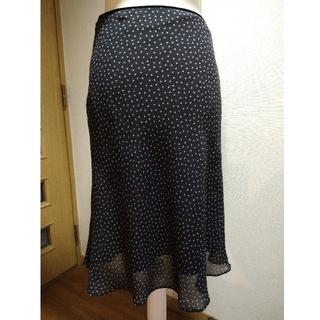 アンタイトル(UNTITLED)のUNTITLEDひざ丈スカート ブラック(ひざ丈スカート)
