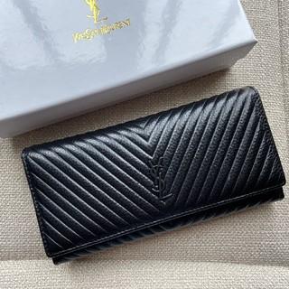 イヴサンローランボーテ(Yves Saint Laurent Beaute)のお勧め♥YSL 長財布 開閉式 お札入れ 本革 ファスナー(財布)