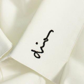 DIOR HOMME - dior homme ロゴ刺繍 長袖シャツ 40 白