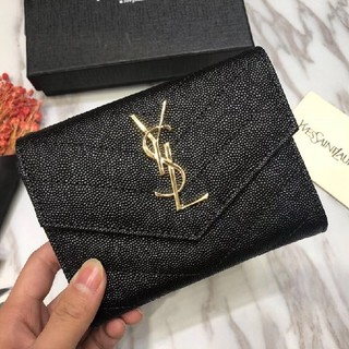 イヴサンローランボーテ(Yves Saint Laurent Beaute)のお勧め♥Saint Laurent  財布 開閉式 お札入れ 本革 ファスナー(財布)