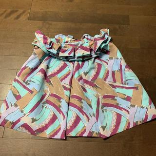リリーブラウン(Lily Brown)のリリーブラウン 2way!! 素敵な柄のスカート、トップスにも!(ミニスカート)