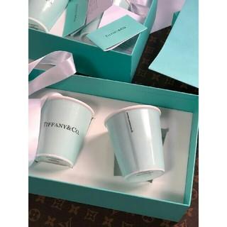 Tiffany & Co. - ティファニー ボーンチャイナペーパーカップ2個セット