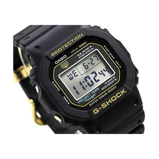 ジーショック(G-SHOCK)の35周年記念限定モデル!新品 G-SHOCK DW-5035D-1B ゴールド(腕時計(デジタル))