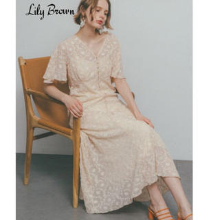 Lily Brown - Lily brown 刺繍シフォン2wayワンピース タグ付き
