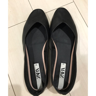 ZARA - ZARA ザラ 靴 ソフトレザー バレエシューズ 24