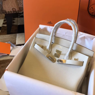 エルメス(Hermes)の 2013AWクレハンドバッグ30トリヨンオフホワイトトートバッグBKタイプ(トートバッグ)