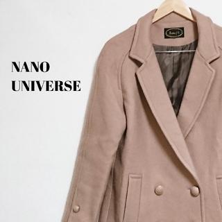ナノユニバース(nano・universe)の美シルエット☆ 上質 ナノユニバース Pコート レディース(ピーコート)