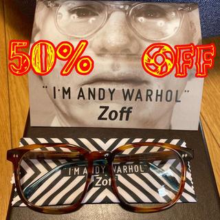 "Zoff - 本日のみ50%OFF!Zoff ""I'M ANDY WARHOL"" 度無"