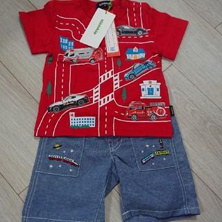 クレードスコープ(kladskap)のクレードスコープ トミカコラボTシャツ ハーフパンツ 新品タグつき(パンツ)
