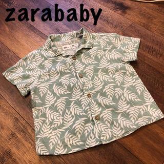 ZARA KIDS - zarababy  リーフ柄 おしゃれシャツ 18-24m