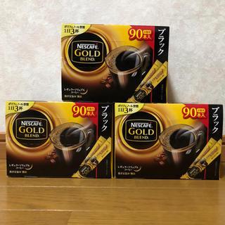 Nestle - ネスカフェ ゴールドブレンド スティック ブラック 90P 3箱セット
