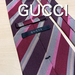 グッチ(Gucci)の【美品】GUCCI マルチストライプ ネクタイ(ネクタイ)