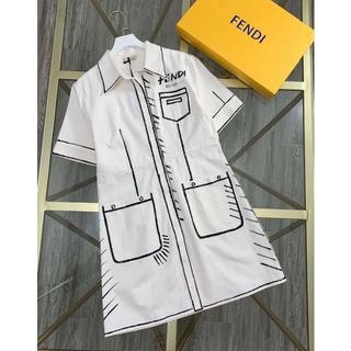フェンディ(FENDI)の20AW【FENDI】 カリフォルニアスカイ デニム ショート ドレス(ひざ丈ワンピース)
