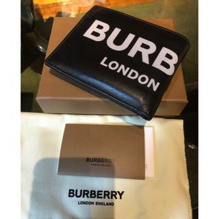 バーバリー(BURBERRY)のBurberry バーバリー ロゴプリント 二つ折り 財布(折り財布)