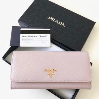 プラダ(PRADA)の【新品】PRADA✧SAFFIANO パスケース付 二つ折り長財布(長財布)