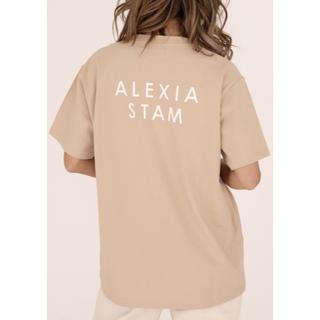 ALEXIA STAM - 新品 ALEXIA STAM Circle Logo Print Tee モカ