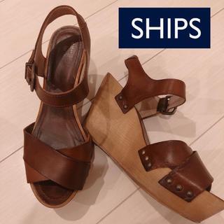 シップスフォーウィメン(SHIPS for women)のウェッジ サンダル シップス SHIPS ブラウン(サンダル)
