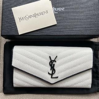 イヴサンローランボーテ(Yves Saint Laurent Beaute)のYves Saint laurent 折り 長財布 開閉式 本革 美品(長財布)