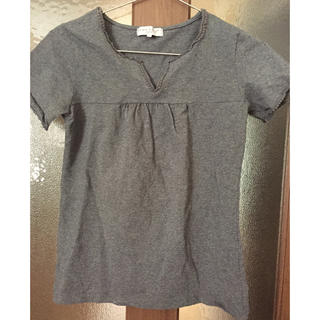 シマムラ(しまむら)のトップス Tシャツ  グレー しまむら(Tシャツ(半袖/袖なし))